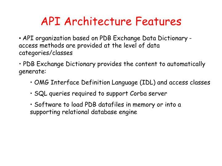 API Architecture Features
