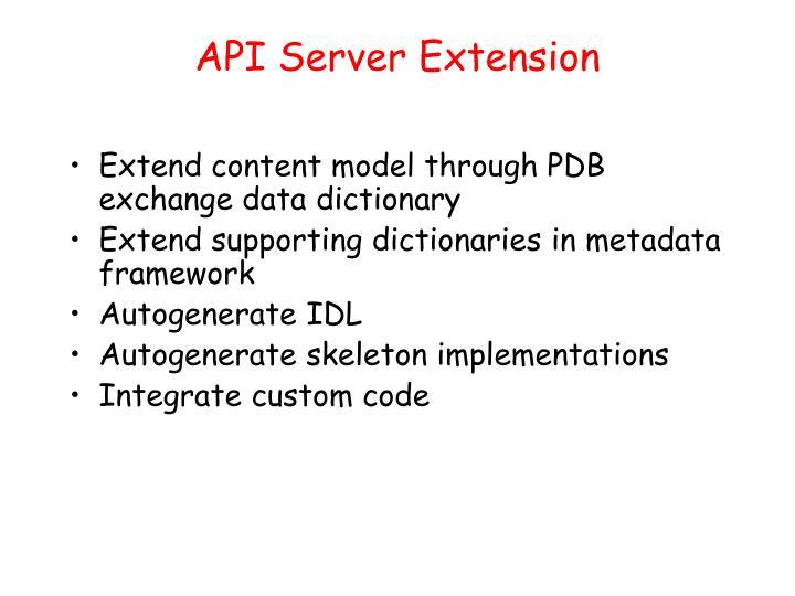 API Server Extension