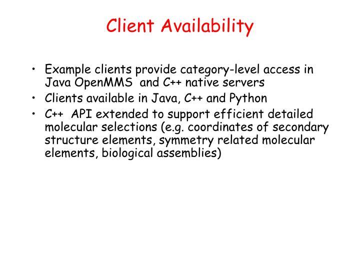 Client Availability