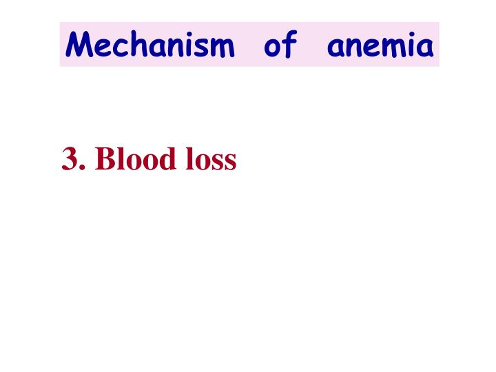 Mechanism  of  anemia