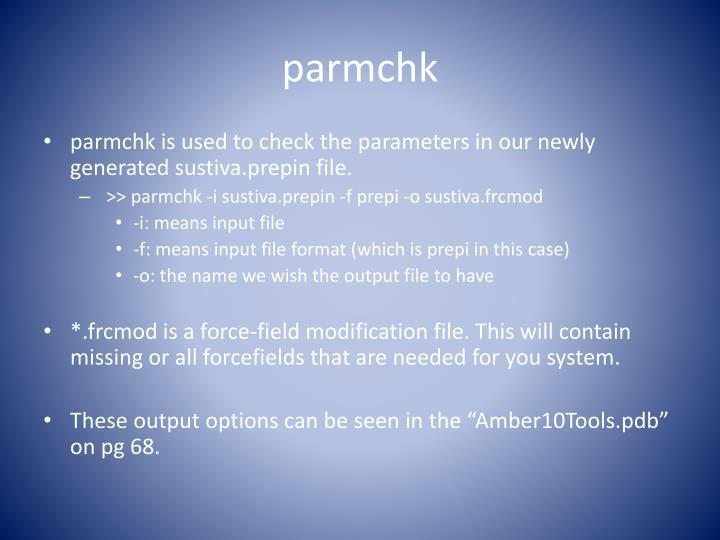 parmchk