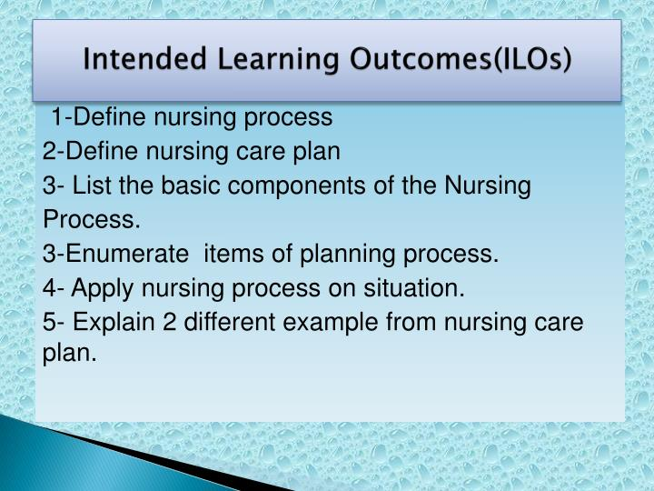 Intended Learning Outcomes(ILOs