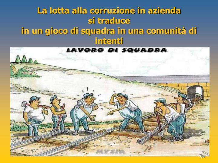 La lotta alla corruzione in azienda