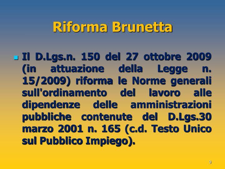 Riforma Brunetta
