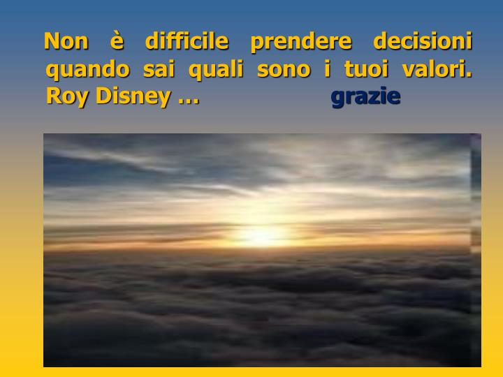Non è difficile prendere decisioni quando sai quali sono i tuoi valori.