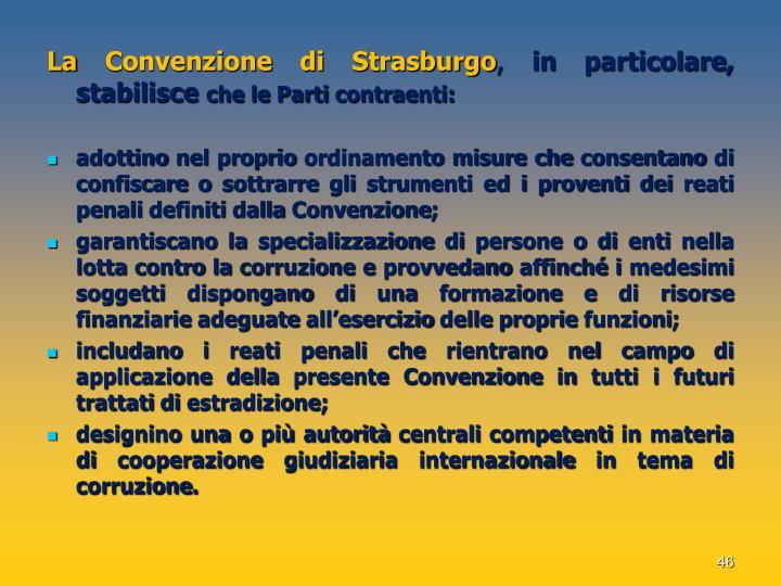 La Convenzione di Strasburgo
