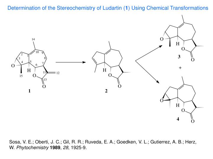 Determination of the Stereochemistry of Ludartin (