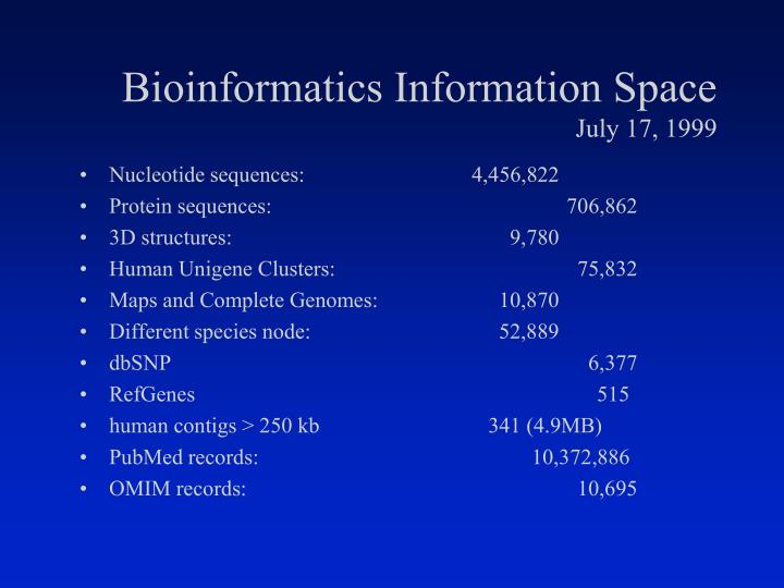 Bioinformatics Information Space