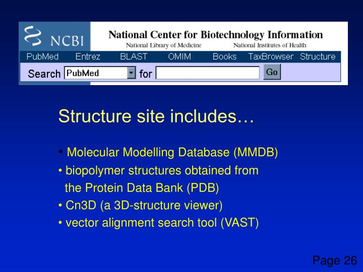 Structure site includes…