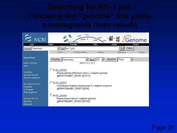 Searching for HIV-1