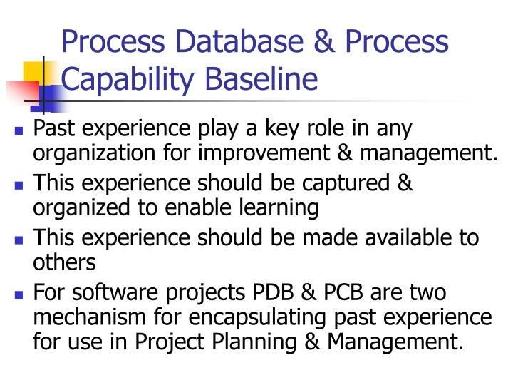 Process Database & Process Capability Baseline