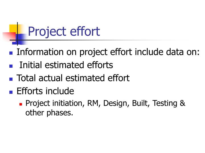 Project effort