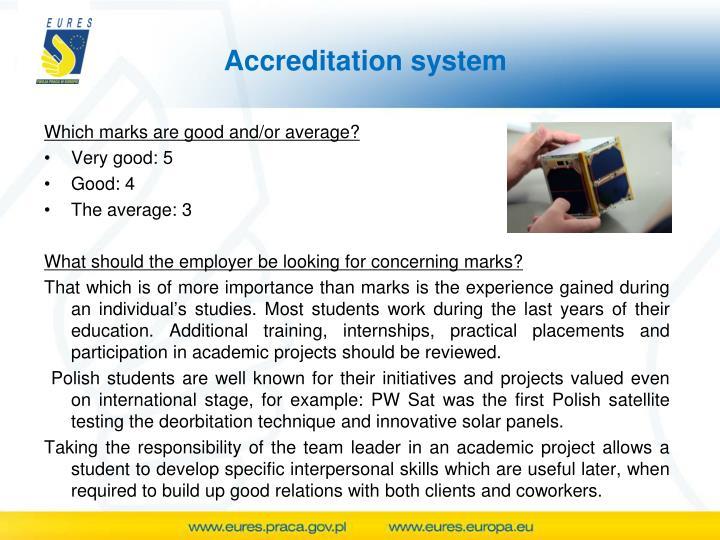 Accreditation system