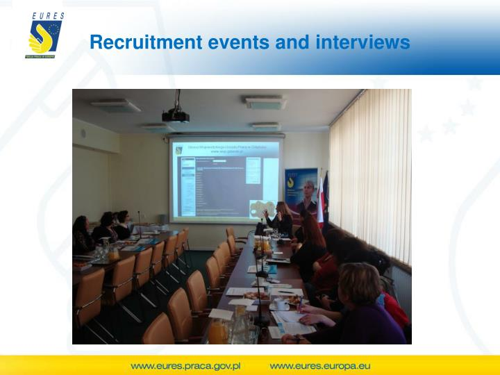Recruitment events and