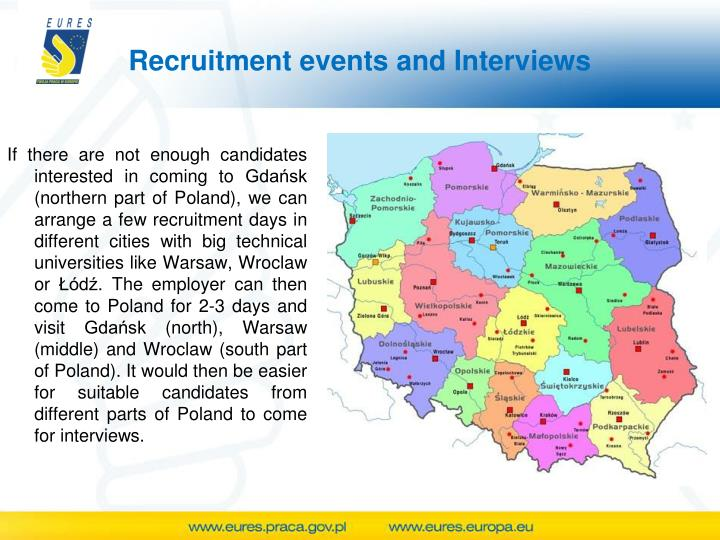 Recruitment events and Interviews