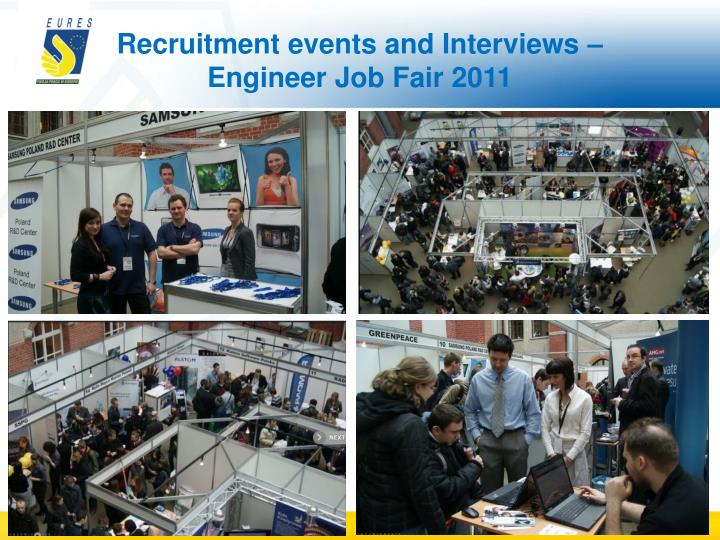 Recruitment events and Interviews – Engineer Job Fair