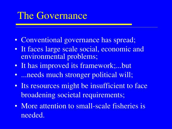 The Governance