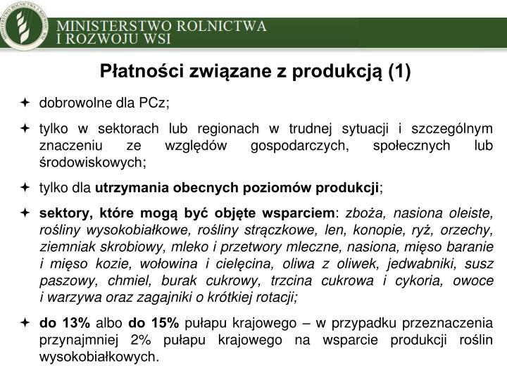 Płatności związane z produkcją (1)