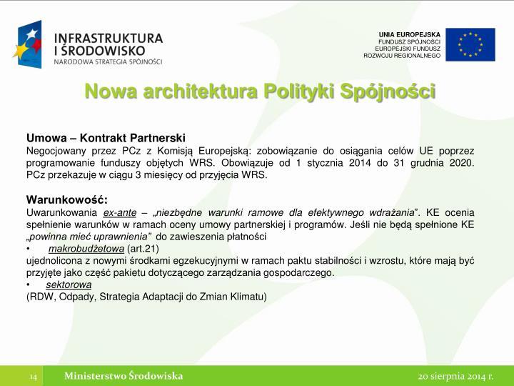 Nowa architektura Polityki Spójności