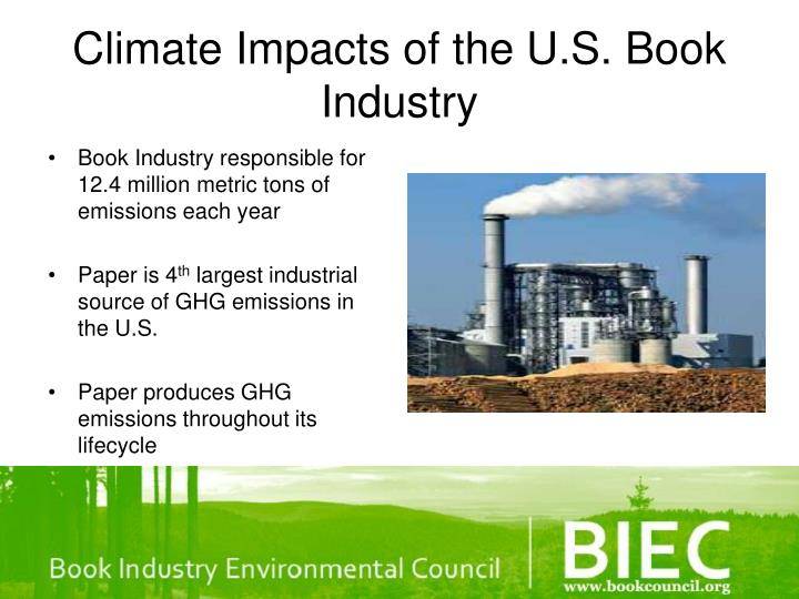 Climate Impacts of the U.S. Book Industry
