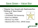 save green value star