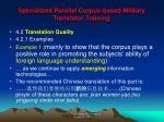 specialized parallel corpus based military translator training10