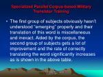 specialized parallel corpus based military translator training11