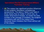 specialized parallel corpus based military translator training16