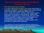 specialized parallel corpus based military translator training19