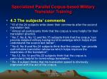 specialized parallel corpus based military translator training21