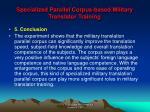 specialized parallel corpus based military translator training22
