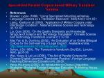 specialized parallel corpus based military translator training23