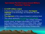 specialized parallel corpus based military translator training4