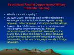 specialized parallel corpus based military translator training6