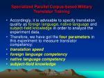 specialized parallel corpus based military translator training7