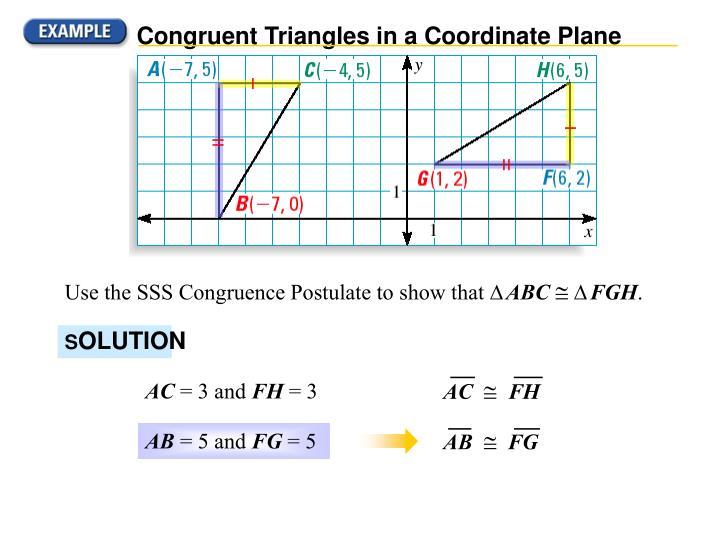 Congruent Triangles in a Coordinate Plane