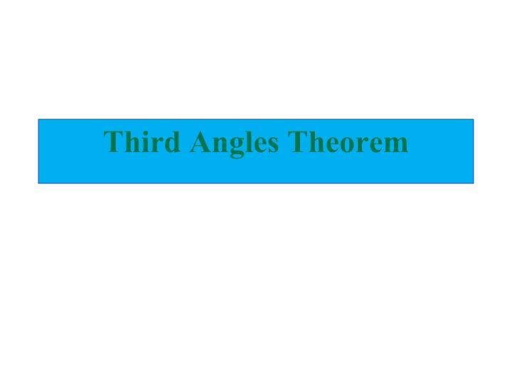 Third Angles Theorem