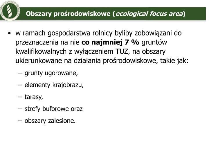 Obszary prośrodowiskowe (