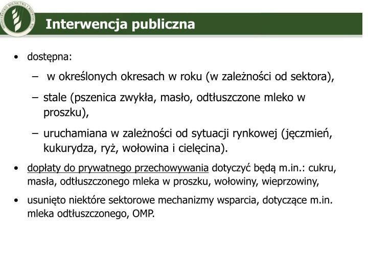 Interwencja publiczna