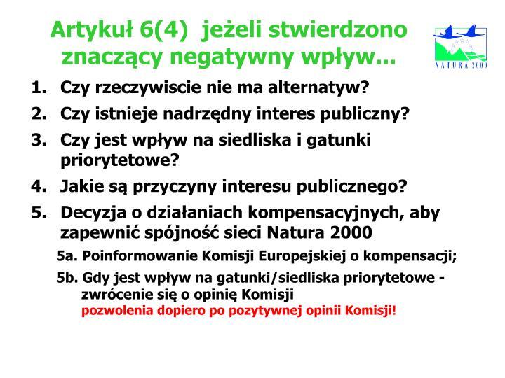 Artykuł 6(4)jeżeli stwierdzono