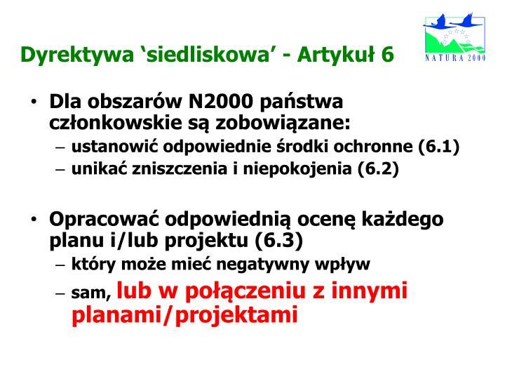 Dyrektywa 'siedliskowa'
