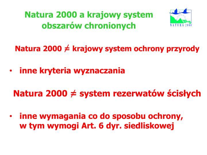 Natura 2000 a krajowy