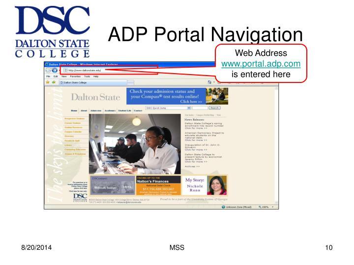 ADP Portal Navigation