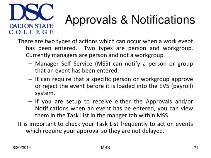 Approvals & Notifications