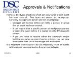 approvals notifications