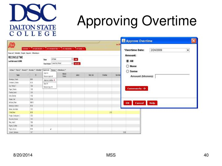 Approving Overtime
