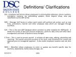 definitions clarifications
