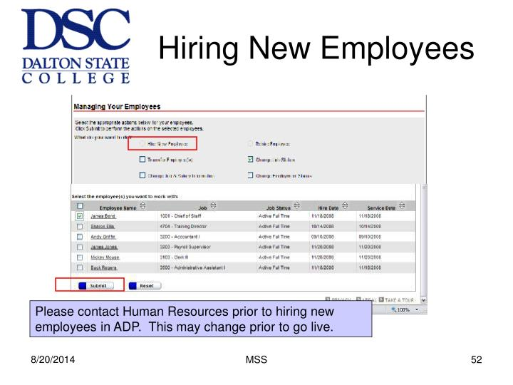 Hiring New Employees