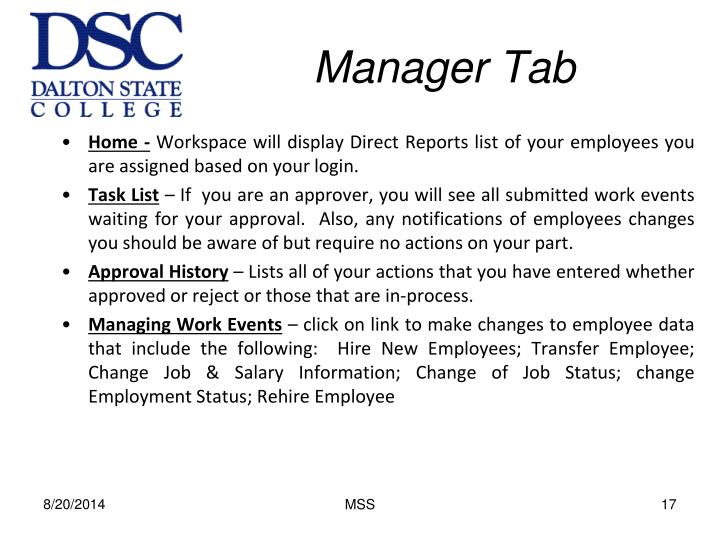 Manager Tab