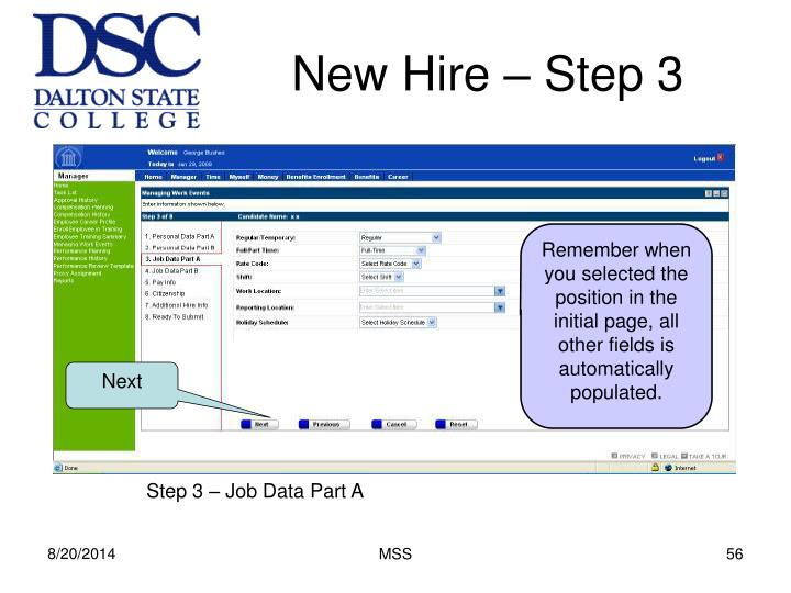 New Hire – Step 3